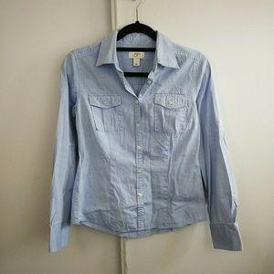LOFT Tops - Ann Taylor Loft Light Baby Blue Button Down Shirt